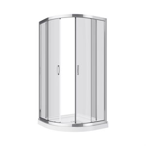 Mona-NW Neo Round Shower Enclosure Kit With Acrylic Base Without Walls