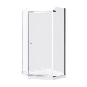 Nevada-NW Neo Angle Shower Enclosure Kit With Acrylic Base Without Walls