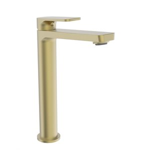 High single hole lavatory faucet, drain not included