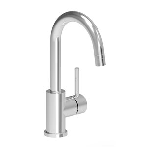 Single hole bar / prep kitchen faucet with dual spray