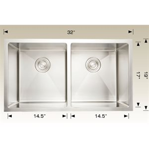 Double Kitchen sink ss