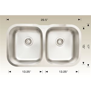 Double Kitchen sink ss 29.5x17x8