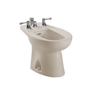 TOTO® Piedmont® Deck Mount Vertical Spray Flushing Rim Bidet, Bone - BT500B#03