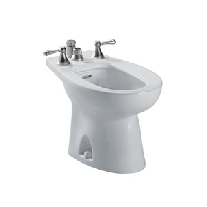 TOTO® Piedmont® Deck Mount Vertical Spray Flushing Rim Bidet, Colonial White - BT500B#11