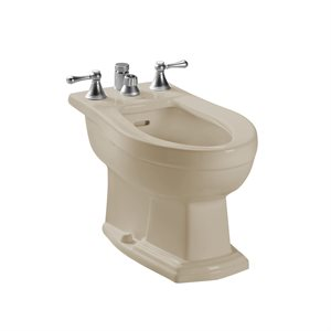 TOTO® Clayton® Deck Mount Vertical Spray Flushing Rim Bidet, Bone - BT784B#03
