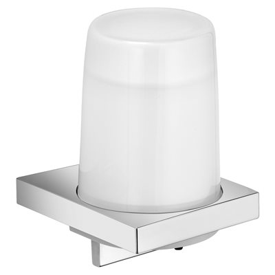 Lotion dispenser | with holder and pump | crystal glass | polished chrome