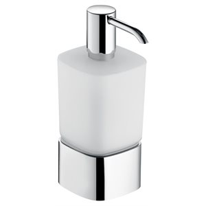 Lotion dispenser | table model with holder&pump | polished chrome