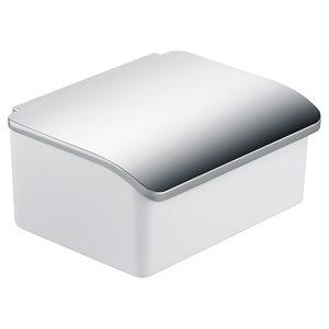 Moisture box | with porcelain insert | polished chrome