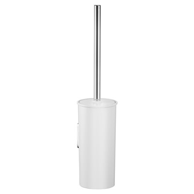 Toilet brush set | with synthetic insert | chrome-plated / anthracite