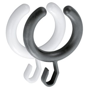 Curtain ring | Packing unit: 10 pieces | white