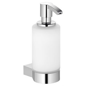 Soap foam dispenser (USA) | with holder and pump | polished chrome