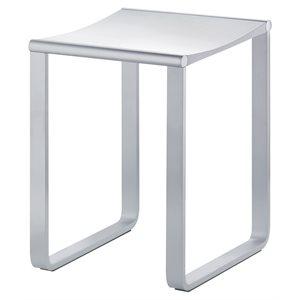 Bathroom stool | max load 220 lb | polished chrome / dark grey (RAL 7021)