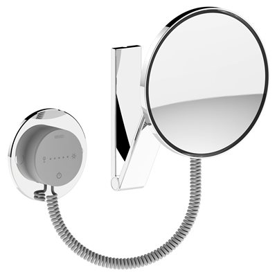 Cosmetic mirrorl iLook_move US | wall-fitted model,round | illuminated | polished chrome
