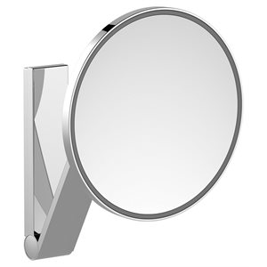 Cosmetic mirror iLook_move   wall model round w. light   polished chrome
