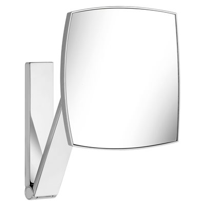 Cosmetic mirror iLook_move | wall model / squared | polished chrome