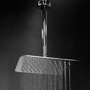 Eleganza Shower Head Brushed S Steel
