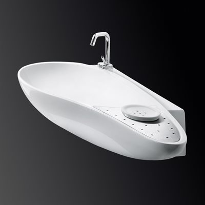 Ovale Bathroom Sink White