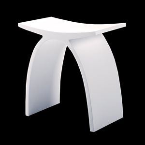 OVALE STOOL SOLID SURFACE WHITE