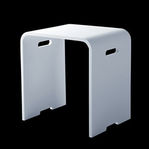 SOTTILE STOOL SOLID SURFACE WHITE