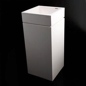 Torre Bathroom Sink Gloss White