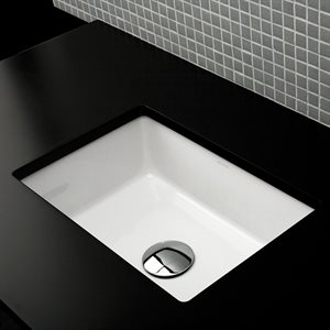 Cube Bathroom Sink White