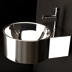 Ferro Bathroom Sink Polished Stainless Steel