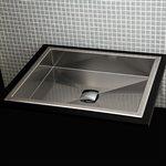 Argento Bathroom Sink Brushed Stainless Steel