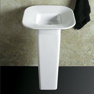 Nove Bathroom Sink White