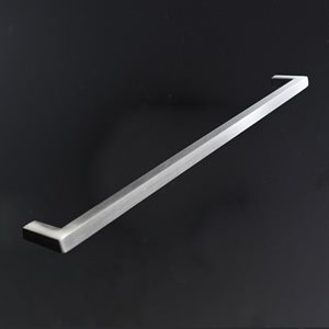 Cabinet door pull or towel bar that installs on furniture.
