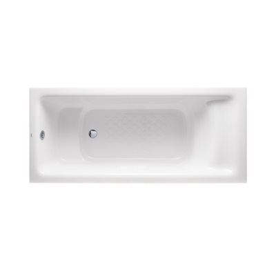 FLOTATION DROP-IN 1700MM SQUARE SOAKER - PEARL WHITE