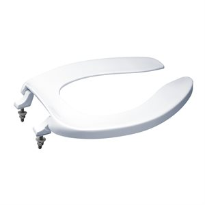 TOTO® Elongated Open Front Commerical Toilet Seat without Lid, Cotton White - SC534#01