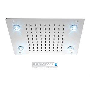 Ceiling shwr head 23x43cm [9x13in] LED (4x) chrome