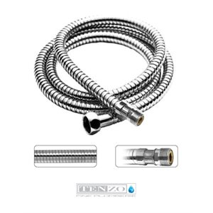 Stretchable hand shwr hose female-male 150-225cm [59-88in] chrome