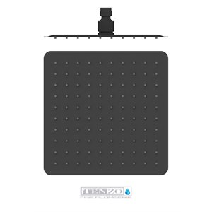 AirBoost shwr head square 25x25cm [10in] mattee black