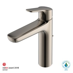 FAUCET,SINGLE LAV,GS (M) 1.2GPM BRUSHED NICKEL W / POPU